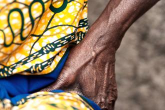 Lucía Arias Ballesteros, Detail. Woman singing - Asotwe village  (Ghana, Afrika)