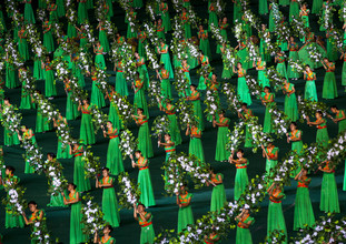 Eric Lafforgue, Arirang mass games in Pyongyang, North Korea (Korea, North, Asia)