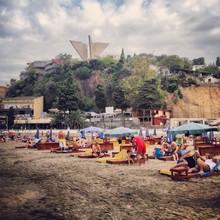 Paul Berlin, 9:00 am Morgen Strand in Ulcinj (Montenegro, Europe)