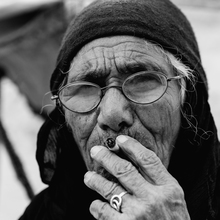Stefan Balk, alte Beduinenfrau (Jordanien, Asien)