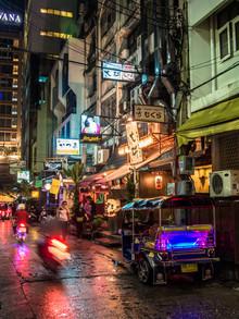 Johann Oswald, Die Straßen Bangkoks (Thailand, Asien)