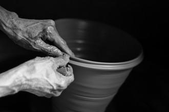 Jagdev Singh, pottery (Nepal, Asien)