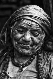 Jagdev Singh, Smiling wrinkles (Nepal, Asien)