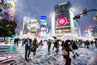 Jörg Faißt, Shibuya-Kreuzung (Tokyo) im Winter (Japan, Asia)