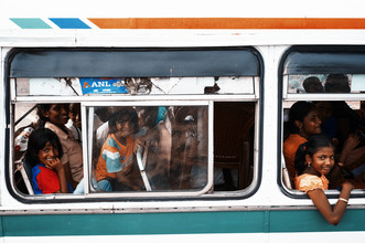 Simon Bode, the bus (Sri Lanka, Asia)