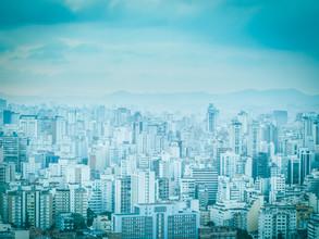 City in Blue 4 - fotokunst von Johann Oswald