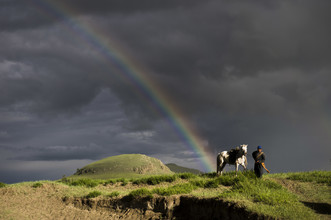 Schoo Flemming, rider in the storm (Mongolei, Asien)