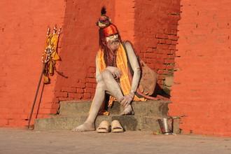 Gaurav Dhwaj Khadka, Sadhu at Pashupatinath premises (Nepal, Asien)