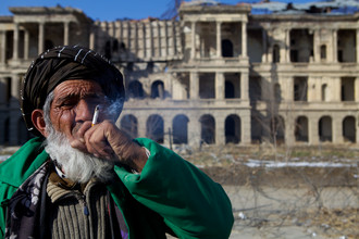 Man at Darul Aman Palace, Kabul - Fineart photography by Christina Feldt