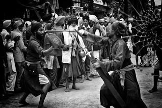 Jagdev Singh, mock fight (India, Asia)