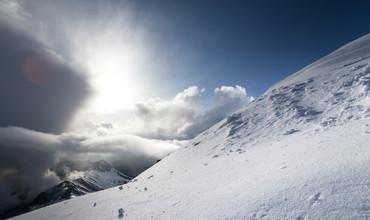 Christian Schipflinger, Sonnenuntergang am Gletscher (Österreich, Europa)
