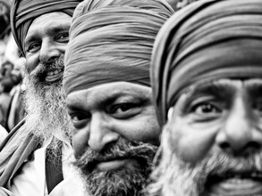 Jagdev Singh, happy people (India, Asia)
