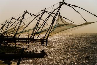 Ralf Germer, Chinesische Fischernetze auf der Halbinsel Fort Kochi (Kerala, Indien) (Indien, Asien)