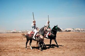 Jim Delcid, Fantasia competition near Rabat Morocco (Morocco, Africa)