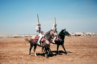 Jim Delcid, Fantasia competition near Rabat Morocco (Marokko, Afrika)