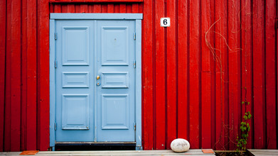 Torsten Muehlbacher, Blaue Tür (Norwegen, Europa)