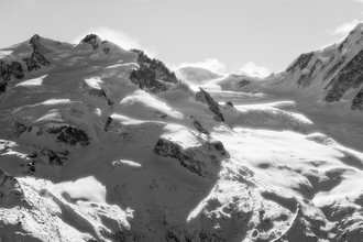 Monte Rosa Massiv - fotokunst von Thomas Gerats
