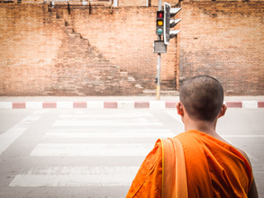 Monk Crossing - Fineart photography by Johann Oswald