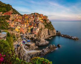Jean Claude Castor, Liguria - Manarola in the Evening (Italy, Europe)