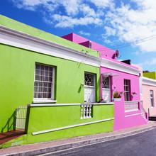 Eva Stadler, Fassade in Bo-Kaap, Cape Town (Südafrika, Afrika)