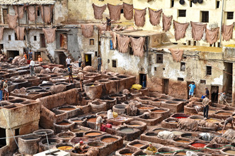 Renate Reichert, Gerberviertel in Fes (Morocco, Africa)