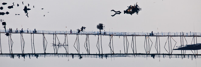 Marc Rasmus, Bridge Over Peaceful Water (Myanmar, Asia)