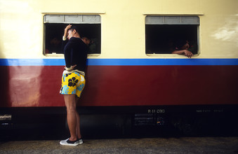 Rangoon Central Station - fotokunst von Martin Seeliger