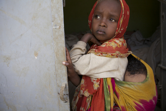 Christina Feldt, Young girl with her baby brother, Ethiopia (Ethiopia, Africa)