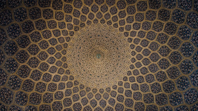 Dome of the Sheikh Lotfollāh Mosque - fotokunst von Chris Blackhead