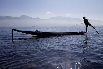 Christina Feldt, Fisher at Inle Lake, Myanmar. (Myanmar, Asia)