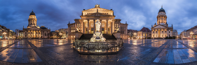 Jean Claude Castor, Berlin - Gendarmenmarkt Panorama (Germany, Europe)