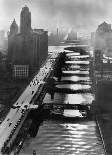 Süddeutsche Zeitung Photo, Zugbrücken über den Chicago River (Vereinigte Staaten, Nordamerika)