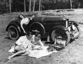 Süddeutsche Zeitung Photo, Ausflug mit dem Auto, 1930 (Deutschland, Europa)