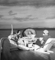 Süddeutsche Zeitung Photo, Ausflug auf dem Hausboot (Deutschland, Europa)