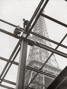 Süddeutsche Zeitung Photo, Bauarbeiten vor dem Eiffelturm (Frankreich, Europa)