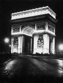 Süddeutsche Zeitung Photo, Arc de Triomphe de l'Étoile bei Nacht (France, Europe)