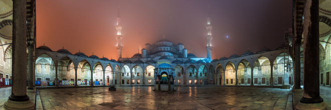 Istanbul - Sultan Ahmed I Moschee Panorama - fotokunst von Jean Claude Castor