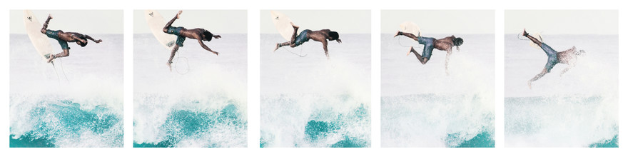 Johann Oswald, Caribbean Surfer Collage (Costa Rica, Latin America and Caribbean)