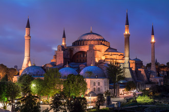 Jean Claude Castor, Istanbul - Hagia Sophia zur blauen Stunde (Türkei, Europa)