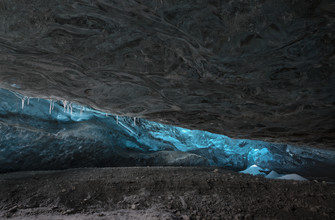 Jens Rosbach, Gletscherhöhle, Island (Island, Europa)