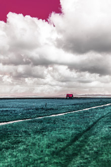 Susanne Kreuschmer, blue field house (Island, Europa)