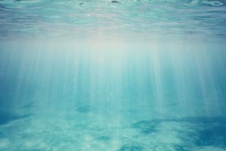 Nadja Jacke, sunlight underwater - blue sea (Spain, Europe)