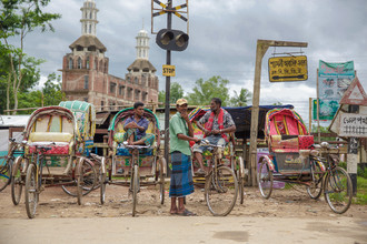 Miro May, Rikscha zur Moschee (Bangladesh, Asien)