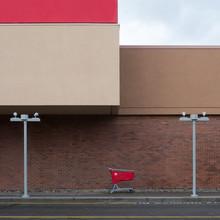 Einkaufswagen - fotokunst von Klaus Lenzen