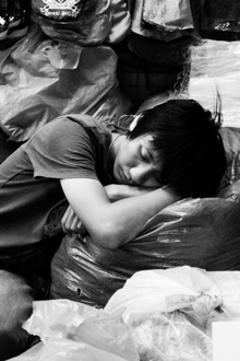 Christian Fischer, Schlafender Händler, Chatuchak Market, Bangkok (Thailand, Asien)