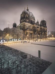 Berliner Dom im Schnee - fotokunst von Ronny Behnert