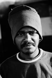 Christian Fischer, Mann mit Mütze, Udupi (Indien, Asien)