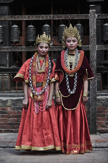 Jan Møller Hansen, Newari girls from Nepal (Nepal, Asia)