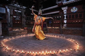 Jan Møller Hansen, The tantric dance of Charya, Nepal (Nepal, Asia)