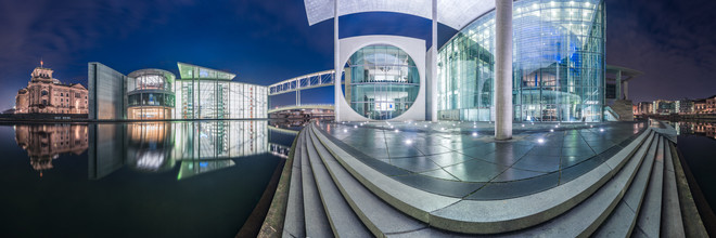 Berlin - Regierungsviertel Panorama Studie IV - fotokunst von Jean Claude Castor